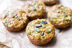 Nut Free Zucchini & Sun-Dried Tomato Muffins | Eat Drink Paleo