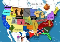 How most people see the USA.