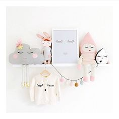 Sweet, whimsical, nursery toys and clothes mommo design: SHELFIE LOVE Baby Decor, Kids Decor, Decor Ideas, Nursery Room, Girl Nursery, Pastel Nursery, Nursery Decor, Girls Bedroom, Ideas Habitaciones