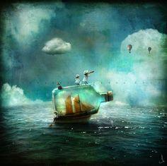 Ilustraciones surrealistas por Alexander Jansson
