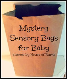 Mystery Sensory Bags for Baby: Junk Drawer