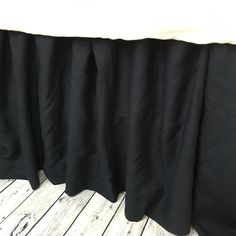 Black Linen Gathered Bed Skirt Black Linen Dust Ruffle Available in Twin Full Queen King Calif. King 13-24 drop or custom length  http://ift.tt/2mnaZGz   Double tab for more images.  #fortheloveoflinen #linen #bedlinen #tellmemore #interior4all #linenbedding #pureline #purelinenutrition #interiordecor #bedroomdecor #bedroominspiration #handmade #handmadebedding  #tailoredmade #instadaily #bedskirt #dustruffle #blacklinen #blackbedskirt