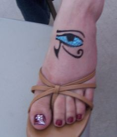 My fifth Egyptian Eye Tattoo is this stunning foot tattoo doncha just . Egyptian Eye Tattoos, Eyes, Cat Eyes