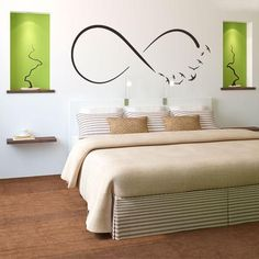 New Step by Step Roadmap for Infinity Wall Decal Symbol Bedroom Wall Sticker – homedecorsdesign Bedroom Wall, Master Bedroom, Bedroom Decor, Home Staging, Sweet Home, House Design, Interior Design, Decoration, Furniture