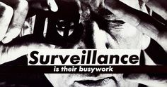 Barbara Kruger, Untitled (Surveillance Is Their Busywork), collage. Courtesy Sprüth Magers.