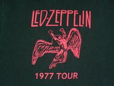 LED ZEPPELIN T-Shirt 1977 Tour (Pre-owned) -- FREE Shipping #notag #GraphicTee