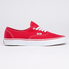 Shop Authentic Shoes today at Vans. The official Vans online store. Red Shoes, Vans Shoes, Me Too Shoes, Shoes Heels, Vans Authentic Red, Tenis Vans, Vanz, Red Vans, White Vans