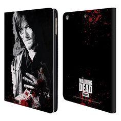 Offizielle AMC The Walking Dead Verwundete Hand Blut Brieftasche Handyhülle aus Leder für Apple iPad Air