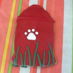 Hydrant Dog Cookie