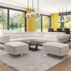 gotowy projekt domu Z378 – aranżacja wnętrz, Parterowy dom z garażem dwustanowiskowym. Outdoor Sectional, Sectional Sofa, Couch, House Plans Mansion, Concept Home, Outdoor Furniture Sets, Outdoor Decor, Mansions, Home Decor