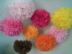 Set of 7 Decorative Pom Poms...pick your colors by PomMagic, $23.00