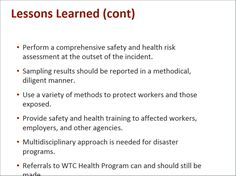 Advances In The Screening And Treatment For Wtc Responders And