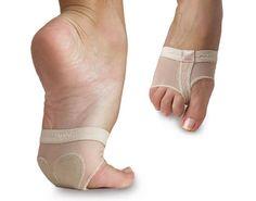 Adult NIP New Capezio FootUndeez Shoe Foot Underwear Black BLK H07 Dance Girl