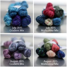 The SpaceCadet's Mini-Skein Club -- July and August 2015 Bundles Hand Dyed Yarn, Night Skies, Crochet Necklace, Fiber, Club, Space, Knitting, Gallery, Mini