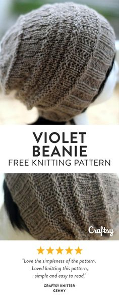 If you know how to purl and knit in the round, then this beginner beanie pattern is the one for you. Get it for free at Craftsy!
