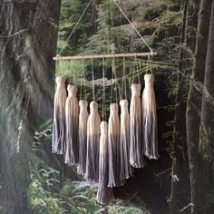 tassel mobile tassel wall hanging dip dye by PineapplePhi