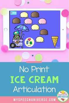 Learn some fun ways to incorporate an ice cream theme into your articulation sessions in speech therapy.