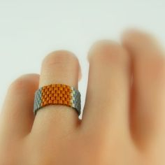 another cute seed bead ring