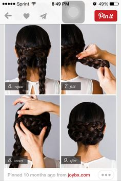 Easiest braided updo ever!!