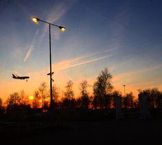 Clounds Plane Schiphol Clounds