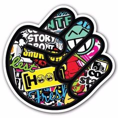 FIST SB4 Sticker Bomb Decal Car Macbook Laptop Funny Custom Hand Sign Hoonigan #UnbrandedGeneric