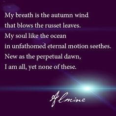 My soul is like the ocean...