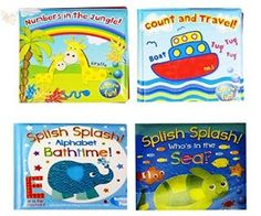 Baby Bath Books Plastic Coated Fun Educational Learning Toys for Toddlers & Kids (Set of all 4 Books) Learning Toys For Toddlers, Baby Bath Toys, Splish Splash, Toddler Toys, Education, Fun, Kids, Plastic, Stocking Fillers