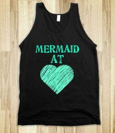 Mermaid At Heart - The basics - Skreened T-shirts, Organic Shirts, Hoodies, Kids Tees, Baby One-Pieces and Tote Bags Custom T-Shirts, Organic Shirts, Hoodies, Novelty Gifts, Kids Apparel, Baby One-Pieces   Skreened - Ethical Custom Apparel