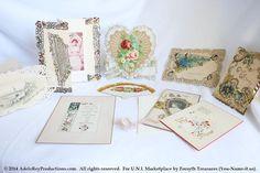VINTAGE Victorian Die Cut Paper Lace Valentine by ForsythTreasures