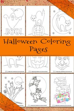 Get your kids ready for Halloween while letting them show their creative side with these printable coloring pages. Halloween Activities, Halloween Projects, Holidays Halloween, Spooky Halloween, Halloween Themes, Halloween Decorations, Free Halloween Coloring Pages, Pumpkin Coloring Pages, Coloring Pages For Kids