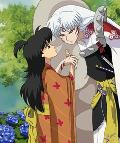 Sesshomaru and older Rin fanart - InuYasha ; SesshXRin - A Cut by mer-may.deviantart.com on @DeviantArt --There's a fanfic for this!! https://www.fanfiction.net/s/10961345/1/InuYasha-Continuation-of-the-Series