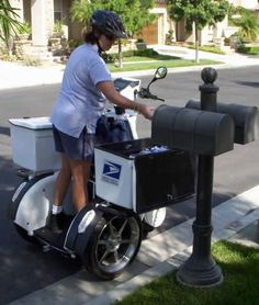 The U.S. Postal Service is delivering a more sustainable future through recycling and use of alternative fuel vehicles, like this three-wheeled electric mail delivery vehicle, and just surpassed its current sustainability goals. Credit: U.S. Postal Service
