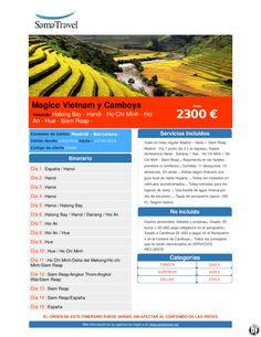 Magico Vietnam y Camboya desde 2300 € ultimo minuto - http://zocotours.com/magico-vietnam-y-camboya-desde-2300-e-ultimo-minuto/