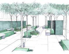 Pocket Park Design / del Buono Gazerwitz Landscape Architecture