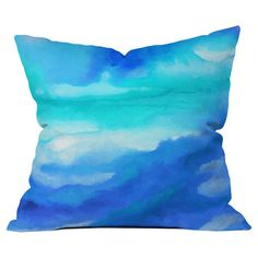 Jacqueline Maldonado Rise 2 Throw Pillow // cobalt + turquoise = stunning visual combination