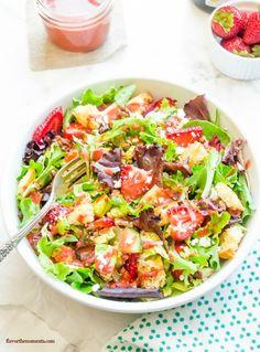 strawberry-fields-panzanella-salad-with-strawberry-balsamic-vinaigrette2 | flavorthemoments.com