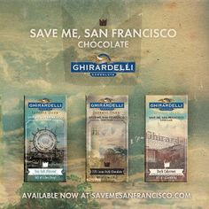 There are three different Save Me, San Francisco bars: Dark Cabernet, which has a wine-like flavor; Sea Salt Almond, which delivers a salty and sweet taste experience; and the intense and creamy 72% Cacao Dark Chocolate. BEST OF ALL, 100% of the proceeds from sales of the chocolate will go to a local San Francisco charity, Family House, which provides the families of seriously-ill children with housing. That same charity also benefits from sales of the band TRAIN's three signature wines.