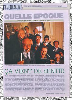 September 1990 / L'évènement du Jeudi : Yuri Gutsatz, one of the 10 founders of Osmothèque