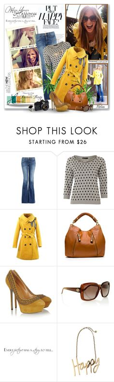 """""""Smile"""" by thewondersoffashion ❤ liked on Polyvore featuring Color Me, J Brand, Weekend Max Mara, Michael Kors, Sergio Rossi, Gucci, Nikon, WALL, Lanvin and PolkaDots"""