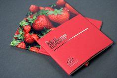 Driscoll Jubilee Strawberries Recipe Book on Editorial Design Served