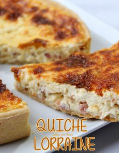 Quiche lorraine by Cyril Lignac - - Ground Beef Recipes For Dinner, Dinner With Ground Beef, Easy Dinner Recipes, French Quiche Recipe, Quiches, Easy Cooking, Cooking Recipes, Roast Recipes, International Recipes