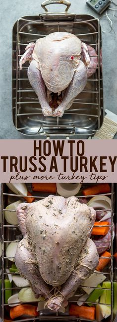 How to truss a turkey | How to prepare a turkey | How to tie a Turkey | Turkey Tips | Tips for first time hosting thanksgiving | How to make a turkey #turkeytips #thanksgivingrecipe #turkeyrecipes #thanksgivingideas