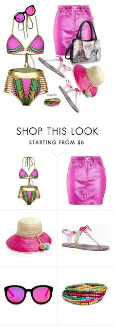 """""""Metallic Summer- Happy Hour!"""" by birgitte-b-d ❤ liked on Polyvore featuring Topshop, Sophie Anderson, Kate Spade and AQS by Aquaswiss"""