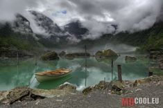 A view of the lake Bondhus in Norway. In the background a view of the Bondhus Glacier as a part of the Folgefonna GlacierView of Lake Bondhus in Norway, and in the background of the Bondhus Glacier, part of the Folgefonna Glacier Albania, Tour Saint Jacques, Beautiful World, Beautiful Places, Beautiful Norway, World Photography Day, Art Photography, Seen, Parc National