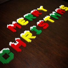 Merry Christmas perler beads by ringo_0122