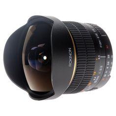 Otro pex este Ojo de Pez. Rokinon FE8M-N 8mm F3.5 Fisheye Lens for Nikon (Black) by Rokinon.