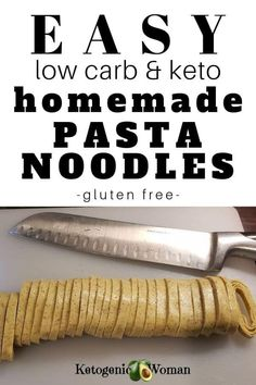 Mix up your keto dinners with this gluten free, low carb, pasta noodles recipe! … Mix up your keto dinners with this gluten free, low carb, pasta noodles recipe! Make your own pasta at home and skip the guilt! Have your pasta and eat it too! Ketogenic Recipes, Low Carb Recipes, Diet Recipes, Ketogenic Diet, Dessert Recipes, Breakfast Recipes, Crockpot Recipes, Recipes Dinner, Bread Recipes