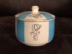 Sugar Bowls, Stavanger, Vertical Stripes, Pottery Art, Norway, Scandinavian, Dish, China, Glass