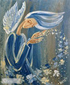 OC na rower Angel Art, Illustration Art, Art Illustrations, Watercolor, Art Journaling, Painting, Sketching, Faeries, Drawings