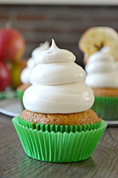 Bakeaholic Mama: Applesauce Cupcakes with Maple Brown Sugar Cloud Frosting